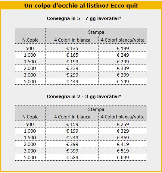 Cartelline portadocumenti 21x30 - listino